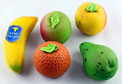 Funsch Marzipan Feinstes Edelmarzipan-Obst, 5x50g = 250 g