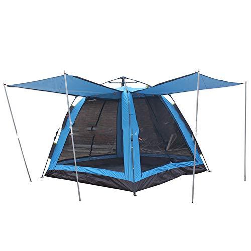 CNAJOI-TDFY Vollautomatisches Zelt, Outdoor-Zelt für 3-4 Personen, viereckige breite Oberseite, vierseitige Belüftung, einlagiges Zelt
