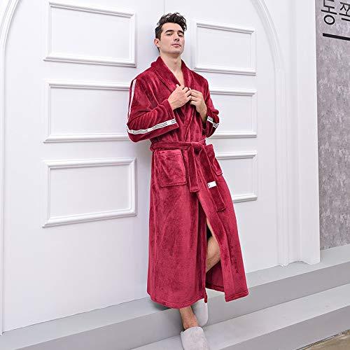 BAYUE Night Robe Nachtkleding Herfst En Winter Plus-sized Flannel Robe Mannen Vrouwen Babe Fluwelen Panel Lange Dikke Badjas Slaapkleding Jurk