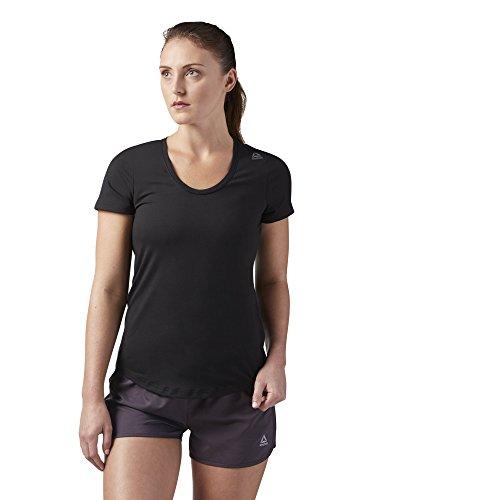 Reebok Damen-T-Shirt Speedwick, Damen, kurzärmelig, Women's Workout Ready Speedwick Tee, schwarz, Medium