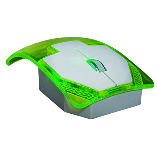 Uonlytech Glowing Illumination Wireless Mouse, 2.4G Wireless Mouse Transparent Optical Mouse Gaming Mouse Playing Mouse for Computer Office Home Wireless Mouse for Laptop