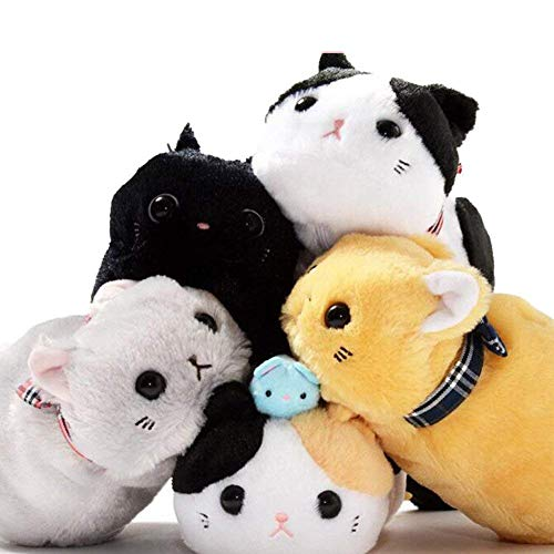 Zeagro - Estuche para lápices, diseño de Animales de Dibujos Animados y Gatos, de Felpa Suave, para Almacenamiento, 1 Unidad de Color al Azar