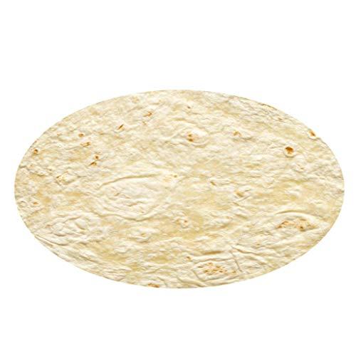 ZEELIY Kind Teppich Wohnzimmer Mexikanischer Burrito Comfort Flanell Wohnzimmer Kinderzimmer Teppich 150cm