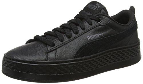 Puma Damen Smash Platform L Sneaker, Schwarz (Puma Black-Puma Black), 38.5 EU