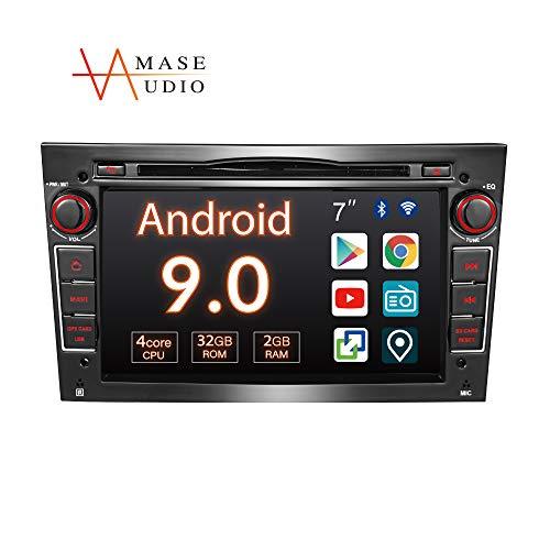 "Amaseaudio Autoradio, 2 Din für Opel Corsa Astra Vectra Zafira Antara Meriva Vivaro, 7\"" Touchscreen, Android 9, Unterstützung Android Auto/GPS Navigation"