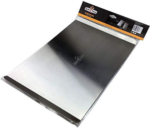 Grillfürst Pizzablech rechteckig aus Edelstahl - 40 cm x 30 cm - zur Vorbereitung und für den Transport des Pizzateiges