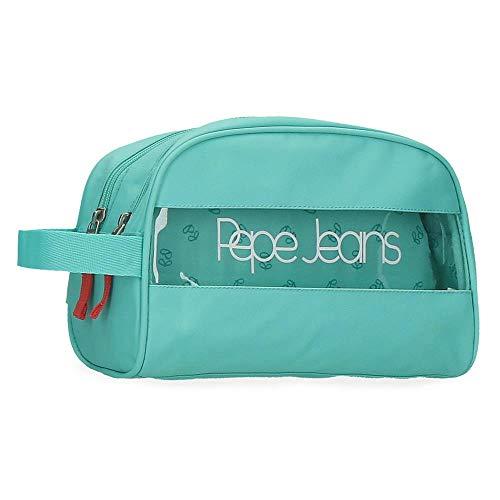 Neceser Pepe Jeans Darienne Doble compartimento Adaptable, Verde, 26x16x12 cm
