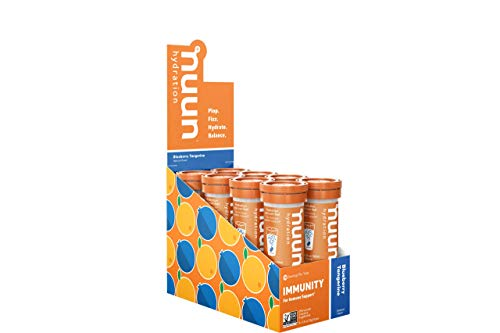 Nuun Immunity: Antioxidant Immune Support Hydration Supplement with Vitamin C, Zinc, Turmeric, Elderberry, Ginger, Echinacea, and Electrolytes. Flavor: Blueberry Tangerine, 8 Tubes (80 Servings)