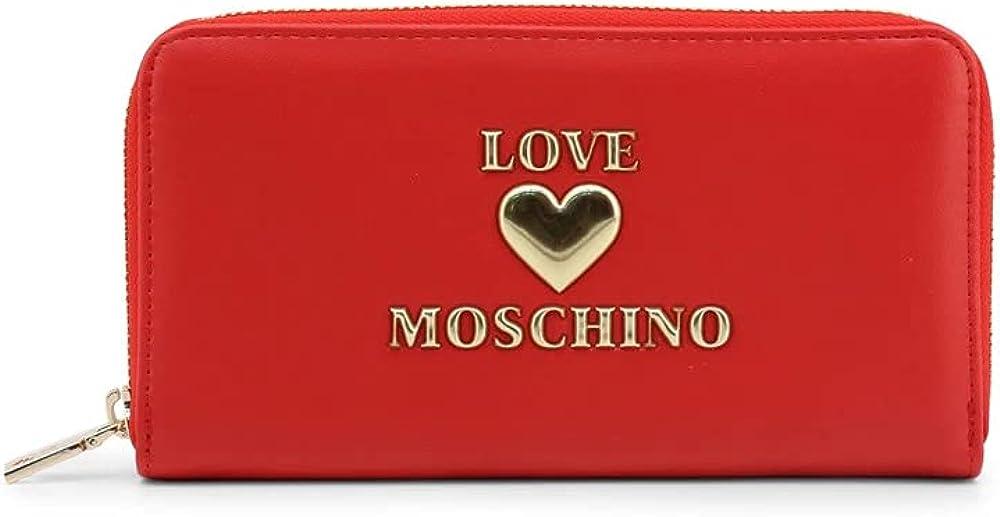 Love moschino portafogli da donna porta carte di credito in pelle sintetica JC5617PP1CLF0500