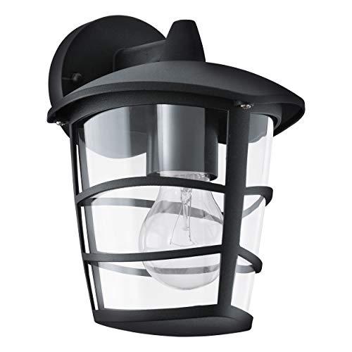 Eglo 93098 Lanterne, Aluminium, E27, Noir
