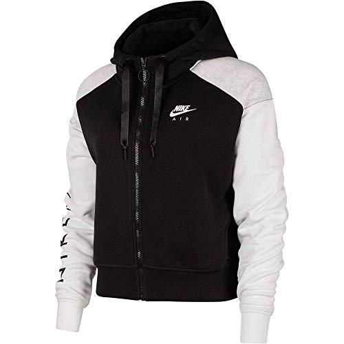 Nike Air Sweatshirt, Damen, Schwarz/Birch Heather/White, XL