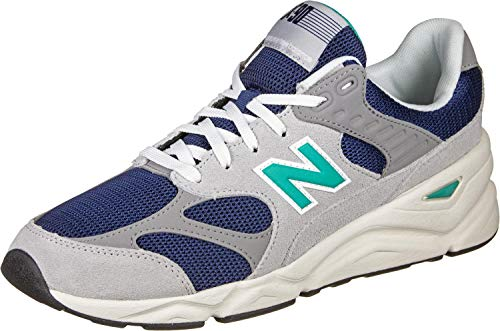 NEW BALANCE X90 Zapatillas Moda Hombres Gris/Azul Zapatillas Bajas