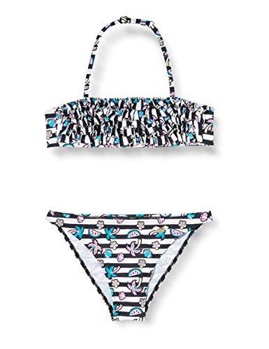 Arena G Tropical Summer Headband Rouche Jr, Bikini per Bambina, Multicolore (White/Black), 12-13 anni