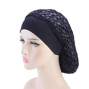 Lurrose Doble Capa de red de pelo de ganchillo redecilla elástica, Azul