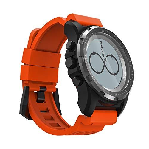 QTEC Smart Watch orange GPS kompass tacho sportuhr Bluetooth pulsmesser smart Band Multi-Sport Fitness Tracker smart Watch