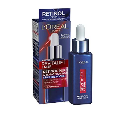L'Oreal Paris Dermo Expertise Revitalift Laser Serúm Noche Retinol Puro Arrugas Profundas, Vanilla, 30 Mililitro