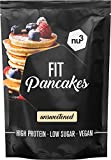 nu3 Fit Pancake – 240g Glutenfreie Backmischung für Pancakes & Pfannkuchen – 28,3g Protein pro 100g - nur 7,3% Fett - aus Mandel und Reismehl - Ideal für ein Proteinreiches Frühstück – Vegan