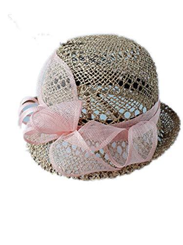 Verano Mujer Retro Sombrero de Paja Curled Hollow Hat Hat Viajes Pequeño Sombrero de Borde Decorativo Sombrero Primavera Y Otoño-Metro_C16
