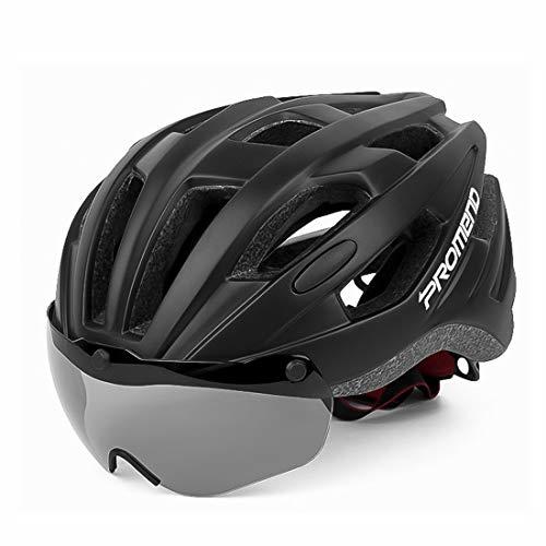 LXJ Fahrradhelm für Herren, bequem, atmungsaktiv, vollständig geformt, Schwarz
