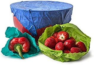 Organic Reusable Food Wraps by Etee - Biodegradable, Non-Toxic & Plastic Free (1 Packs of 3 Wraps - 3 Wraps Total) - Say Goodbye to Plastic