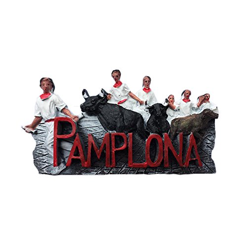Imán para nevera 3D de Pamplona, diseño de San Fermín, recuerdo de viaje, decoración del hogar y la cocina, imán para nevera