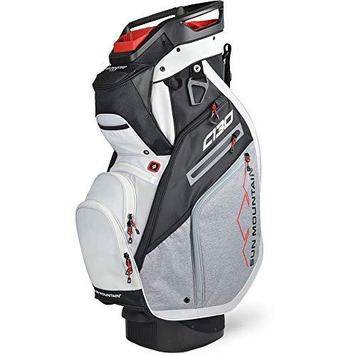 Sun Mountain Golf 2020 C-130 Cart Bag (BLK-Char-WHT-RED, C-130)