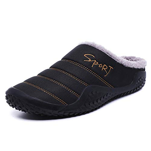 ypyrhh Alta Densidad Espuma de Memoria Zapatos,Home Half mop Cotton Shoes, Warm Cotton mop-Black_39