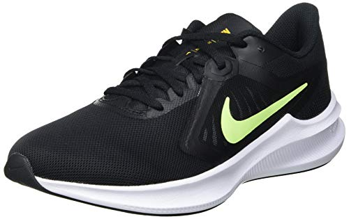 NIKE Downshifter 10, Zapatillas Hombre, Black/Volt Glow-University Gold-White, 43 EU
