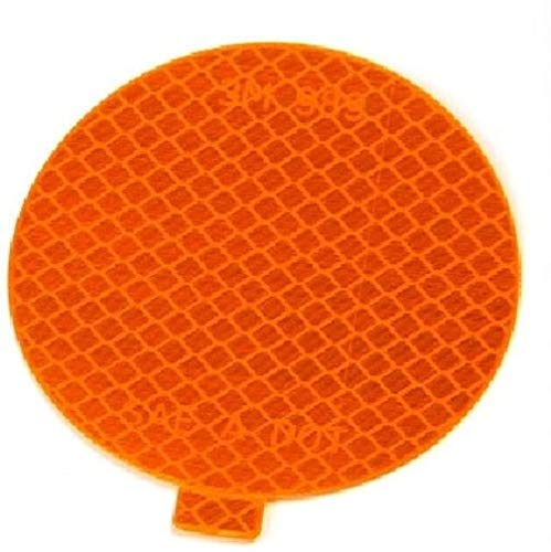 """Meridian Vehicle Parts Ten 3M 22560 Amber 3"""" Round Conspicuity Tape Reflectors Car Truck Trailer 989-74"""