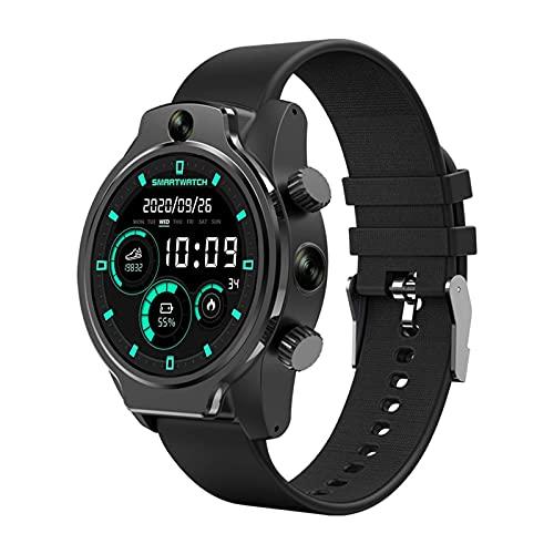 ZGLXZ 4G Tarjeta Smart Watch Doble Cámara IP68 Nivel 1360Mah Batería Smart Call Watch Fitness Ejercicio Multifunción para Android iOS