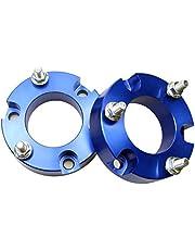 JINGLINGKJ Kits de elevación de aluminio de suspensión delantera de 32 mm para amortiguadores Na-vara D40 NP300 de bobina, amortiguadores, espaciadores de resorte, 2 unidades
