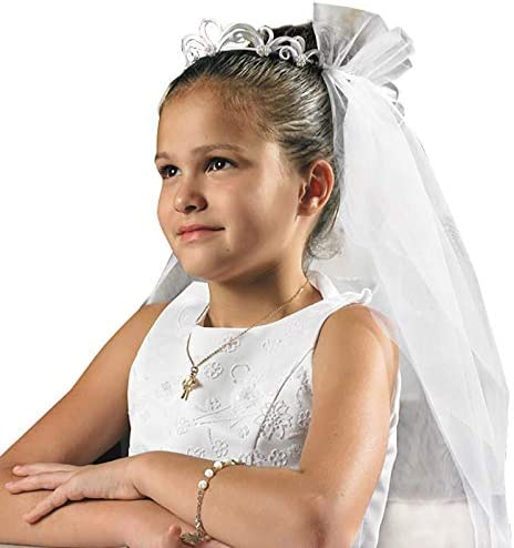 Christian Brands Elegant Tiara Communion Veil
