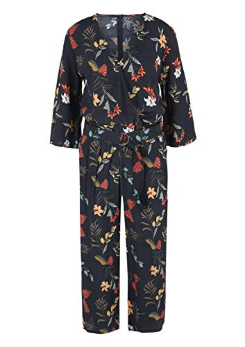 s.Oliver RED Label Damen Crêpe-Jumpsuit mit floralem Print Navy AOP 36 - 2