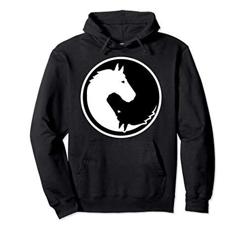 El yin y el yang de los caballos Sudadera con Capucha