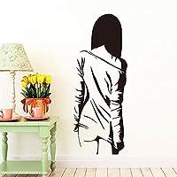 部屋の装飾アクセサリーのための大きなセクシーな女の子の壁のステッカー リビングルームの寝室の装飾ビニールデカール58X149cmのための接着剤壁のステッカー