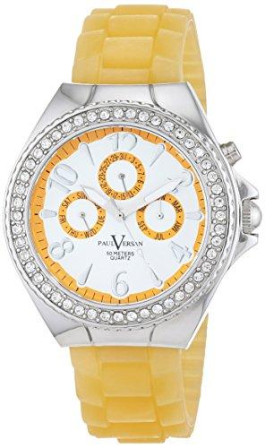 Paul Versan Reloj Análogo clásico para Mujer de Cuarzo con Correa en Caucho PV4042