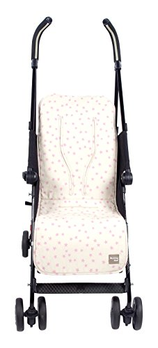 Walking Mum Estrella - Colchoneta para silla de paseo, color beige/rosa