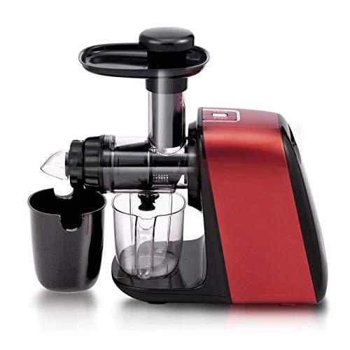 Adesign Máquina de expresión de masticación de expresión Lenta, Motor fácil de Limpiar, silencioso, exprimidor de Prensa en frío para Verduras y Frutas, sin BPA