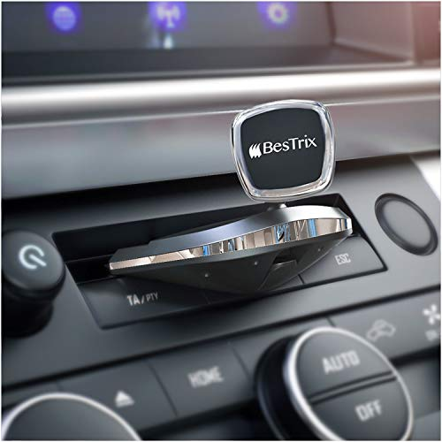 Bestrix Universal CD Slot Magnetic Smartphone Car Mount Holder for iPhone 11 Pro/Xs MAX/XR/XS/X/8/7/6 Plus, Galaxy S10/S10+/S10e/S9/S9+/N9/S8 and All Smartphone