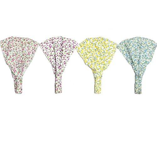 TININNA 4 pcs Venda del bebé,Retro Flores Diadema Hairband Sombrero Turbante envolturas Cabeza para bebé niñas Princesa.
