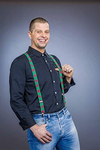 Folat grüne Hosenträger * Christmas * als Verkleidung für Weihnachten und Mo