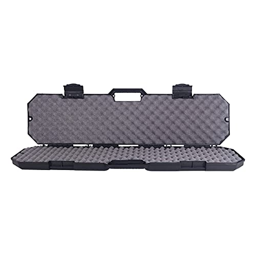 """Condition 1 42"""" Single Scope Hard Plastic Rifle Case with Foam, Black - Scratch and Water Resistant - Made in USA - 41.40"""" x 8.97"""" x 3.25"""""""