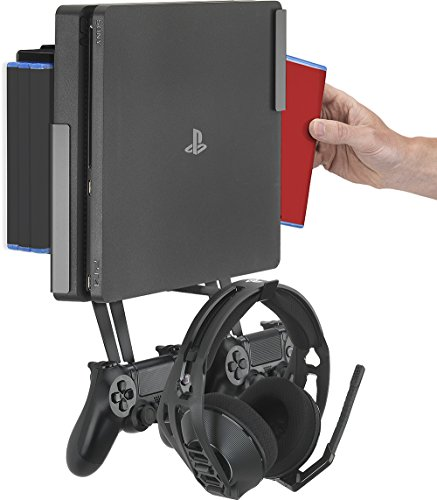 Soporte de Pared GamingXtra para PS4/PS4 Pro/PS4 Slim Paquete de Montaje en Pared PS4 Series Negro
