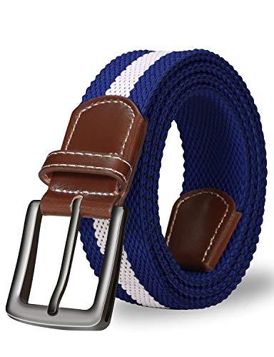 ITIEZY Cintura Elastica Intrecciata per Uomo e Donna, Casuale Moda Cintura in Tessuto per Jeans Pantaloni