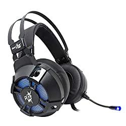 Redgear Cosmo 7.1 Gaming Headphones with RGB LED Effect, Mic and in-line Controller