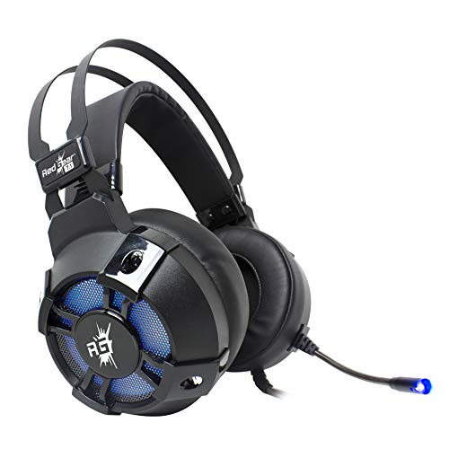 Redgear Cosmo 7.1 USB Wired Gaming Headphones with RGB LED Effect, Mic and in-line Controller for PC (Black)