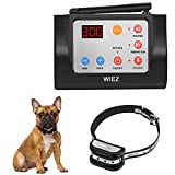 WIEZ Dog Fence Wireless & Training Collar Outdoor 2-in-1, Electric Wireless Fence w/Remote, Adjustable Range, Waterproof, Reflective Stripe, Harmless for All Dogs (1 Collar)
