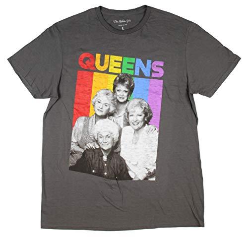 The Golden Girls Queens Gay Men's Rainbow Design T-shirt, LIcensed XL, 2XL