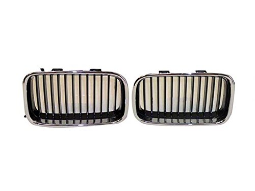 Bundle for 92-96 Bmw 3 Series 318 320 325 M3 Grille Chrome W/Blk Inserts Lh & Rh BM1200113 BM1200114