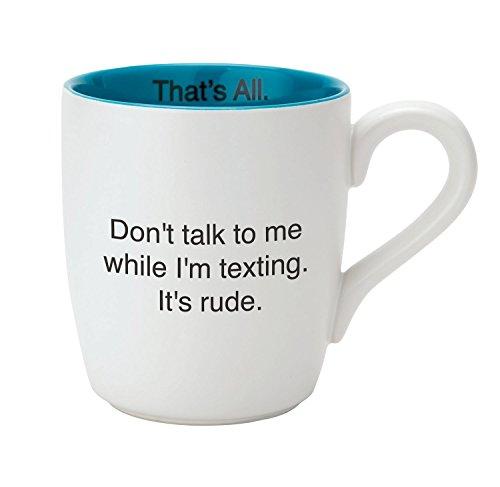 SB design Studio MUG28–2880B while I' m Texting in ceramica tazza di caffè